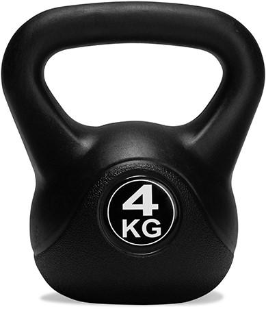 VirtuFit PVC Kettlebell - 4 kg - Zwart-2