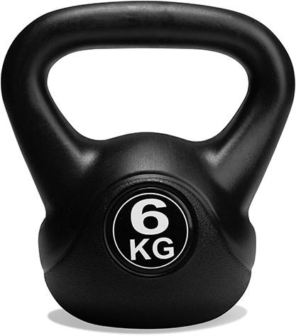 VirtuFit PVC Kettlebell - 6 kg - Zwart-2