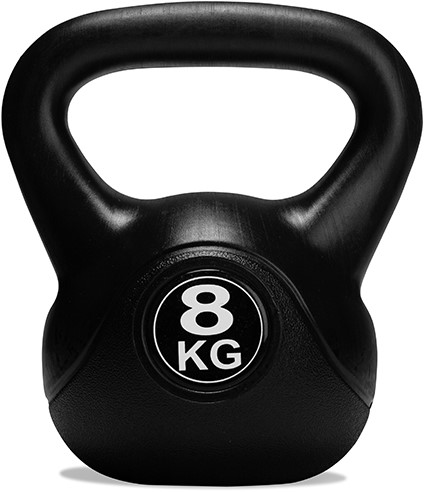 VirtuFit PVC Kettlebell - 8 kg - Zwart-2