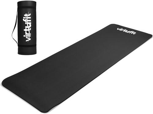 VirtuFit NBR Fitnessmat - 180 x 60 x 1,5 cm - Yogamat met Draagkoord - Zwart