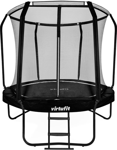 VirtuFit Premium Trampoline met Veiligheidsnet - Zwart - 251 cm