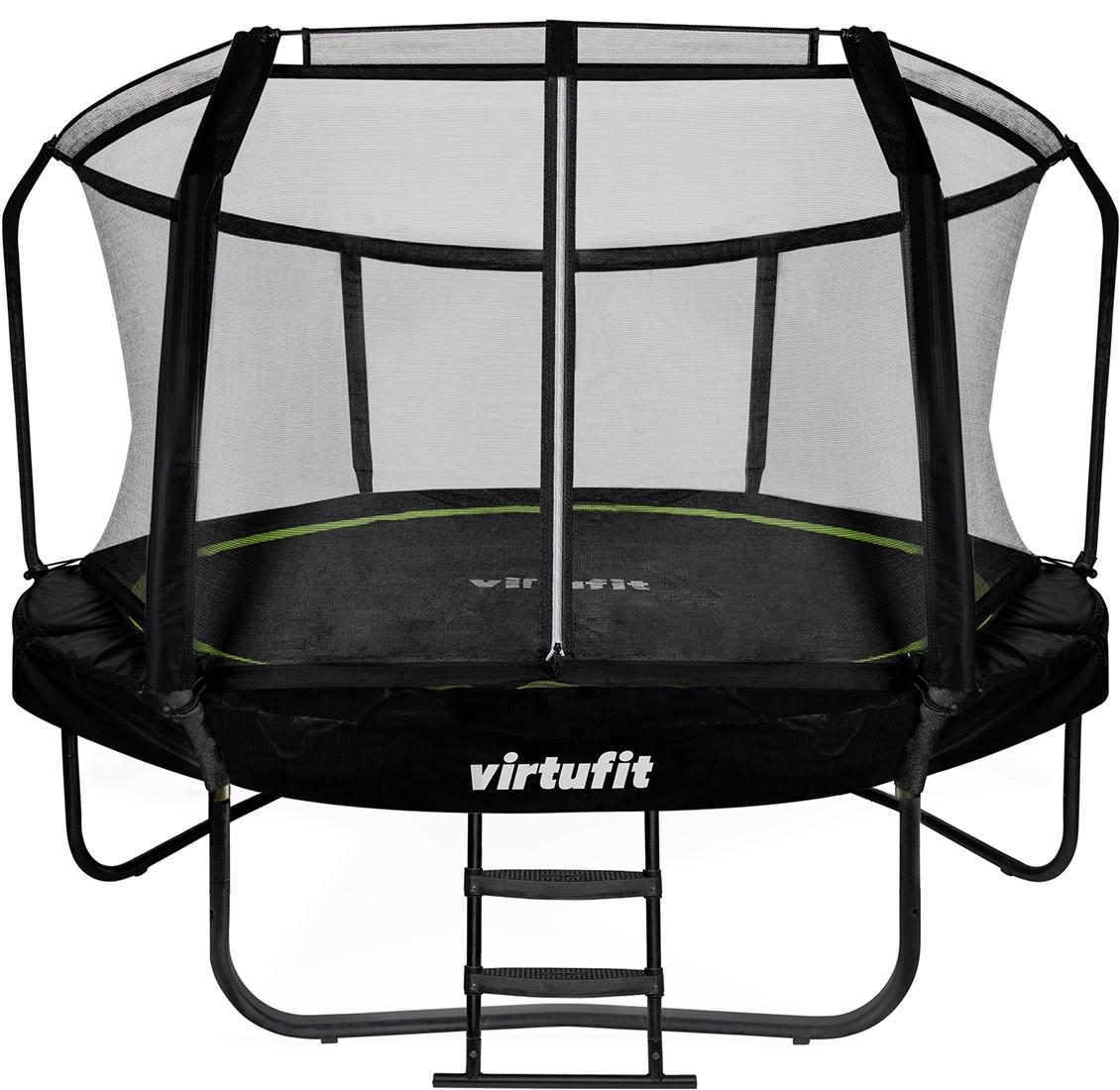 1. VirtuFit Premium Trampoline met Veiligheidsnet - Zwart - 305 cm
