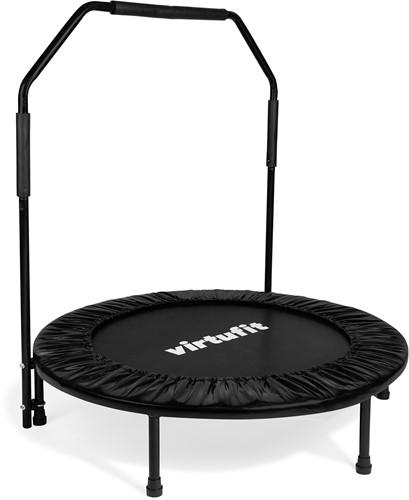 VirtuFit Opvouwbare Fitness Trampoline met Handvat - Zwart - 100 cm - Tweedekans