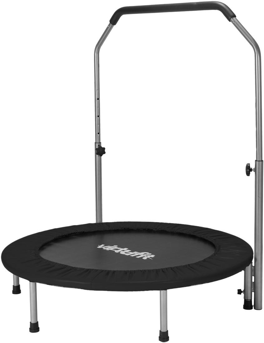VirtuFit Fitness Trampoline Pro met Verstelbaar Handvat - 100 cm - Zwart