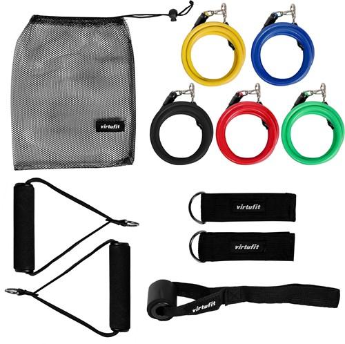 VirtuFit Resistance Kit - 11-delige Weerstandsbanden Set - Inclusief Handvaten