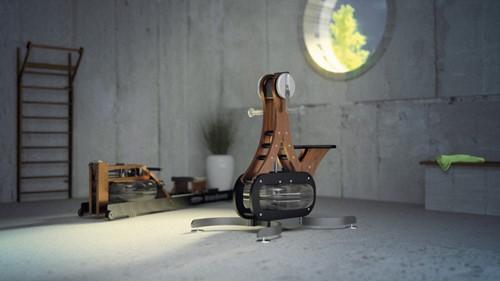 Nohrd WaterGrinder Gebeitst Essenhout Roeitrainer - Gratis montage-3