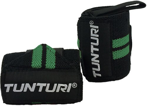 Tunturi Wrist Wraps - Zwart/Groen